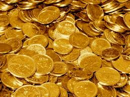 piles of gold