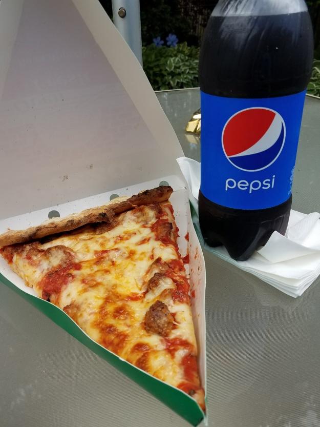 pepsi and pizza