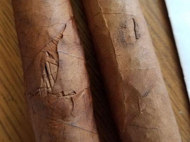 damaged cigars